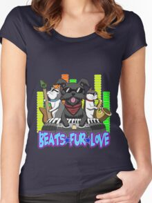 Beats - Fur - Love Women's Fitted Scoop T-Shirt