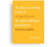 Beethoven Quote Canvas Print