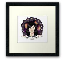 "YOSHI NARITA: ""Do you wanna be pretty, too?"" Framed Print"