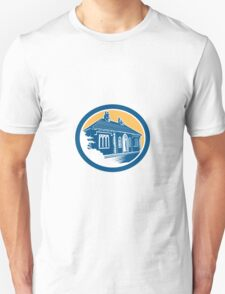 Medieval House Building in Bath Retro Unisex T-Shirt