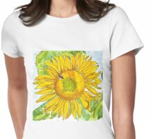 CHERYL'S SUNFLOWER Womens Fitted T-Shirt