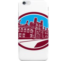 St John's College Cambridge Building Retro iPhone Case/Skin