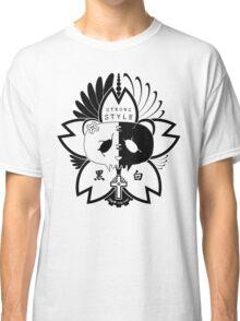 Panda Paw Paw Sakura T-Shirt Design (Black) Classic T-Shirt