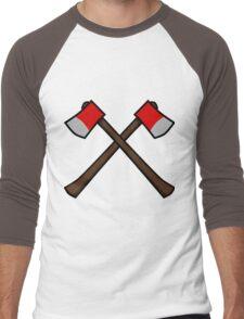Crossed Axes Men's Baseball ¾ T-Shirt