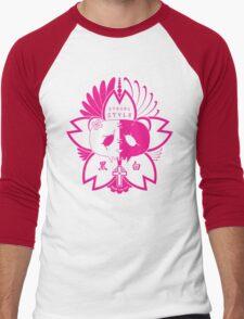 Panda Paw Paw Sakura T-Shirt Design (Pink) Men's Baseball ¾ T-Shirt