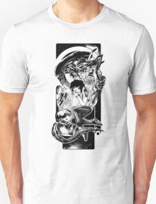 Goodnight Newt   Black and White Unisex T-Shirt