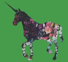 Floral Unicorn 3 Kids Clothes