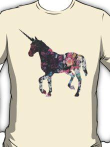 Floral Unicorn 3 T-Shirt