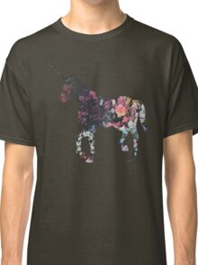 Floral Unicorn 3 Classic T-Shirt