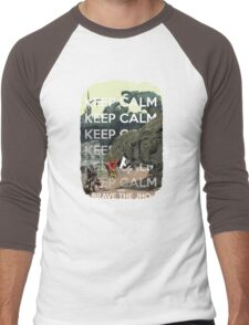 Keep Calm and Brave the Jho Men's Baseball ¾ T-Shirt