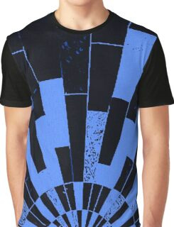 Black and Blues, bricks pattern Graphic T-Shirt