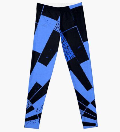 Black and Blues, bricks pattern Leggings