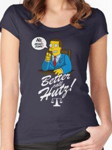 Better Call Hutz Women's Fitted Scoop T-Shirt