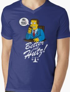 Better Call Hutz Mens V-Neck T-Shirt