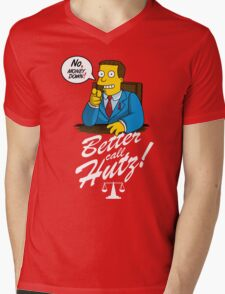 Better Call Hutz Mens V-Neck T-Shirt