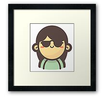 Mini Characters - Cool Girl Framed Print