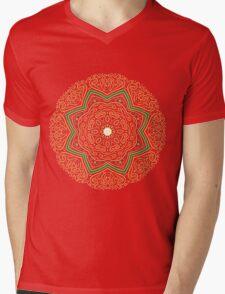 Hand Drawn Golden Mandala Mens V-Neck T-Shirt