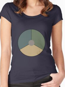 Royal Netherlands Air Force - Roundel (low-vis green) Women's Fitted Scoop T-Shirt