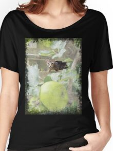 Tommy kitten in apple tree Women's Relaxed Fit T-Shirt