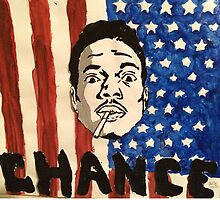 Chance the Rapper Painting  by Amma Fordjour