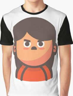Mini Characters - Angry Girl Graphic T-Shirt