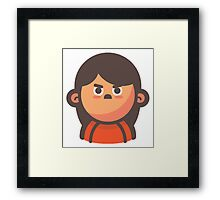 Mini Characters - Angry Girl Framed Print
