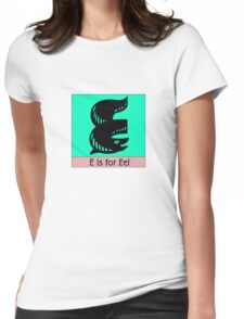 Eel Animal Alphabet Womens Fitted T-Shirt
