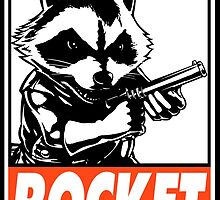 Rocket Raccoon Rocket Obey Design by SquallAndSeifer