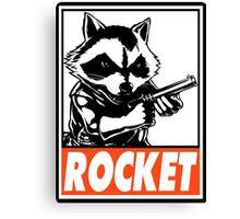 Rocket Raccoon Rocket Obey Design Canvas Print