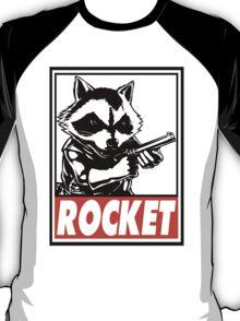 Rocket Raccoon Rocket Obey Design T-Shirt