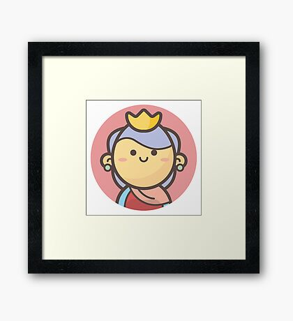 Mini Characters - Queen Girl Framed Print