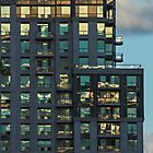 Apartment Tower Sunset Reflections by Gerda Grice