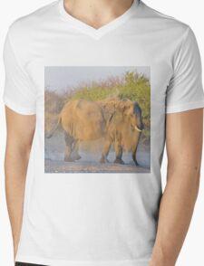 African Elephant - Dust Bath Action Mens V-Neck T-Shirt