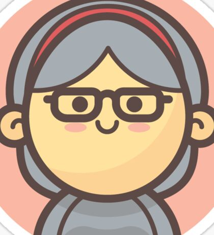 Mini Characters - Old Lady 2 Sticker