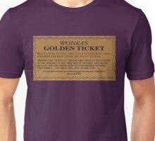 Willy Wonka's Golden Ticket Unisex T-Shirt