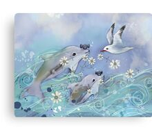 Dolphin Gifts Canvas Print