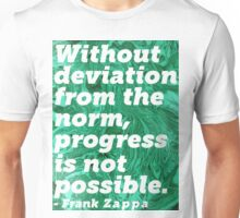 Frank Zappa Quote (marble paint) Unisex T-Shirt