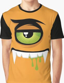 Cartoon expression monster Graphic T-Shirt