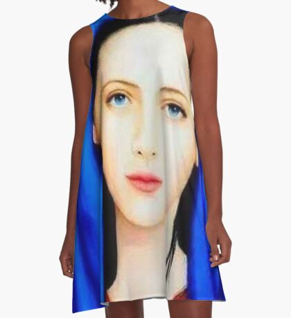 Mother Mary,mother of Jesus Christ,mother of God,St.Mary,beautiful mother Mary,Faith,catholic,christian A-Line Dress