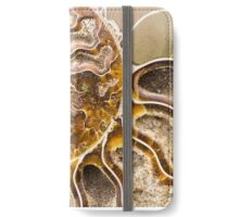 Spiral Ammonite fossil iPhone Wallet/Case/Skin