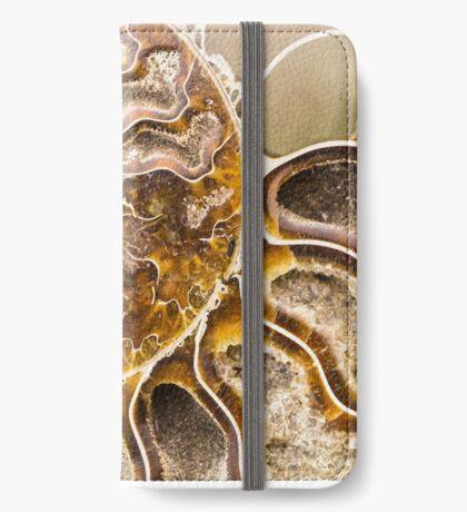 Spiral Ammonite fossil iPhone Wallet/Case/Skin
