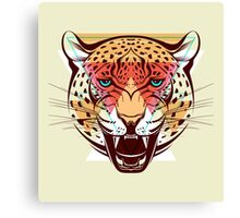 Angry Leopard Fashion Illustration Animals Gift Canvas Print