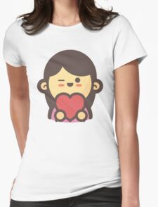Mini Characters - In-Love Woman Womens Fitted T-Shirt
