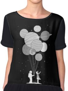 Between planets and balloons. Chiffon Top