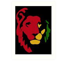 Lion Rasta Reggae Art Print