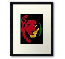 Lion Rasta Reggae Framed Print
