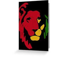 Lion Rasta Reggae Greeting Card