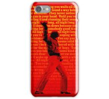 """Billy Joel """"Sleeping With the Television On"""" lyric art iPhone Case/Skin"""