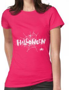 Halloween spider Womens Fitted T-Shirt
