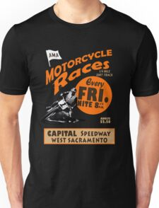 Motorcycle Speedway Races - West Sacramento Unisex T-Shirt